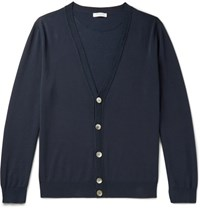Boglioli Cotton Cardigan Navy