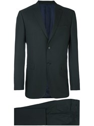Z Zegna Tailored Jacquard Business Suit Black