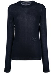 Adam By Adam Lippes Fine Knit Jumper Blue