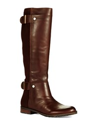 Isaac Mizrahi Applee Boots Brown Leather