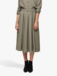 Selected Femme Adda Midi Skirt Vetiver
