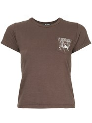 Hysteric Glamour Spider Web Girl Pocket T Shirt Brown