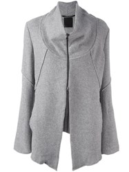 Lost And Found Ria Dunn Funnel Neck Jacket Grey