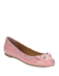 Marc By Marc Jacobs Studded Piggy Flats Pink