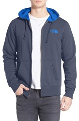 The North Face Men's 'Lfc' Full Zip Fleece Hoodie Cosmic Blue Bomber Blue
