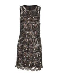 Walter Baker Short Dresses Dark Brown