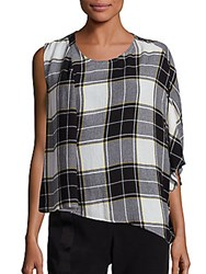 Public School Aloran Plaid Top Yellow White