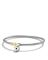David Yurman Cable Collectibles Heart Lock Bracelet With Gold Silver Yellow Gold