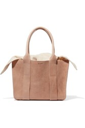 Muun Gilbert Mini Textured Leather And Cotton Canvas Tote Tan