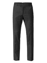 Limehaus Appleton Charcoal Square Skinny Fit Trousers Charcoal