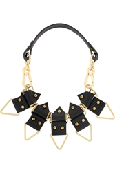 Finds Moxham Anubis Gold Plated And Leather Necklace