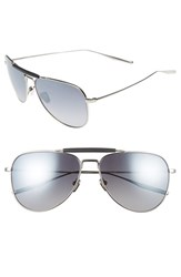 Salt Men's Striker 59Mm Aviator Sunglasses Traditional Silver