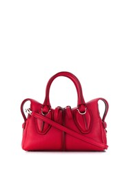 Tod's Top Zipped Tote Red