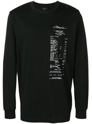 3.1 Phillip Lim Graphic Motif Sweatshirt Black
