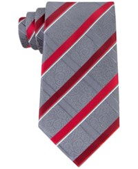 Geoffrey Beene Men's Stressless Stripe Tie Red