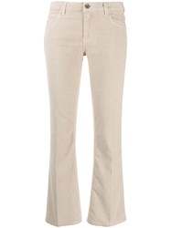Haikure Cropped Flared Trousers Neutrals