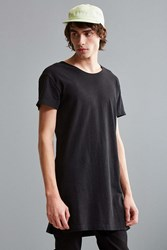 Urban Outfitters Wide Neck Super Long Tee Black