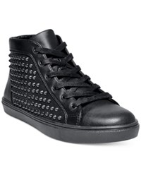 Steve Madden Women's Levels Studded High Top Sneakers Women's Shoes Black