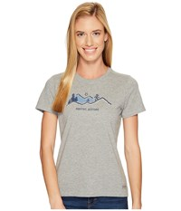 Life Is Good Positive Altitude Crusher Tee Heather Gray Women's T Shirt