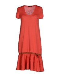 Ajay Dresses Short Dresses Women Coral
