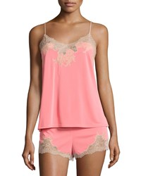 Natori Enchant Lace Trimmed Nightie Set Coral Pink