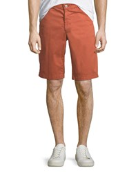 Ag Jeans Griffin Flat Front Shorts Sulfur Rosso Red
