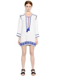 Etoile Isabel Marant Embroidered Cotton Gauze Dress