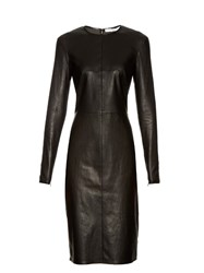 Givenchy Long Sleeved Leather Pencil Dress