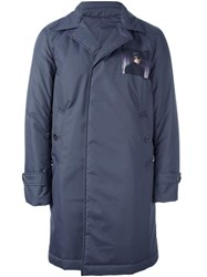 Undercover Single Breasted Coat Blue