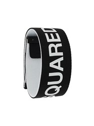 Dsquared2 Logo Printed Bracelet Black