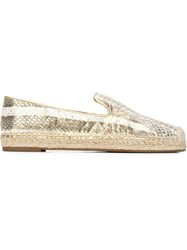Vince Camuto Snakeskin Espadrilles Yellow And Orange