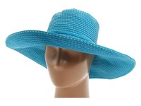 San Diego Hat Company Rbl205 Ribbon Crusher With Ticking Sun Turquoise Traditional Hats Blue