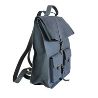 Kjore Project Evolution Of Goods Survey Classic Backpack Navy Blue And Grey
