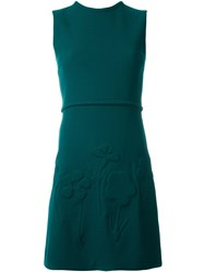 Victoria Beckham Flower Detail Dress Green