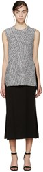 3.1 Phillip Lim Silver Braided Knit Wrap Dress