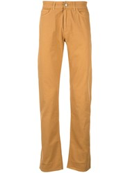 Gieves And Hawkes Straight Leg Trousers Yellow