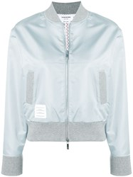 Thom Browne Center Back Ripstop Bomber Grey