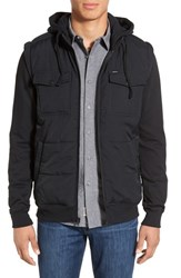 Rvca Men's 'Stealth' Puffer Fleece Hooded Jacket