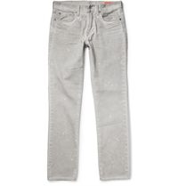 Jean Shop Slim Fit Selvedge Denim Jeans Gray
