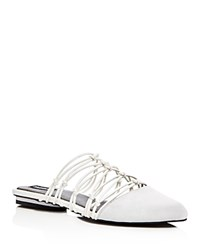 Jaggar Series Strappy Knotted Mules Chalk