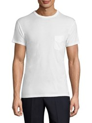 Officine Generale Short Sleeve Cotton Tee White
