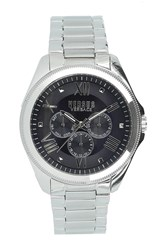 Versus By Versace 'S Elmont Multi Function Analog Quartz Bracelet Watch 44Mm Stainless Steel