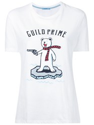 Guild Prime Graphic Printed T Shirt Women Cotton 36 White