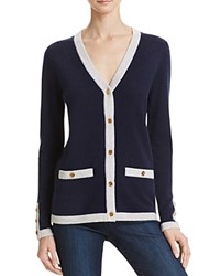 Bloomingdale's C By Button Cashmere Cardigan Dark Navy Frost