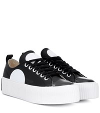 Mcq By Alexander Mcqueen Leather Platform Sneakers Black