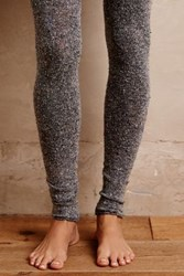 Anthropologie Nubby Footless Tights Grey