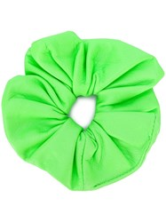 Manokhi Leather Hair Scrunchie Green