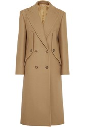 Michael Kors Collection Double Breasted Wool Coat Camel