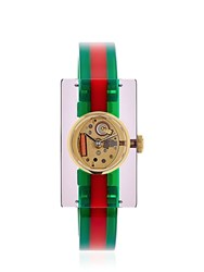 Gucci Vintage Web Plexiglass Watch