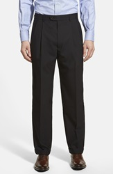 Linea Naturale Pleated Wool Dress Pants Black